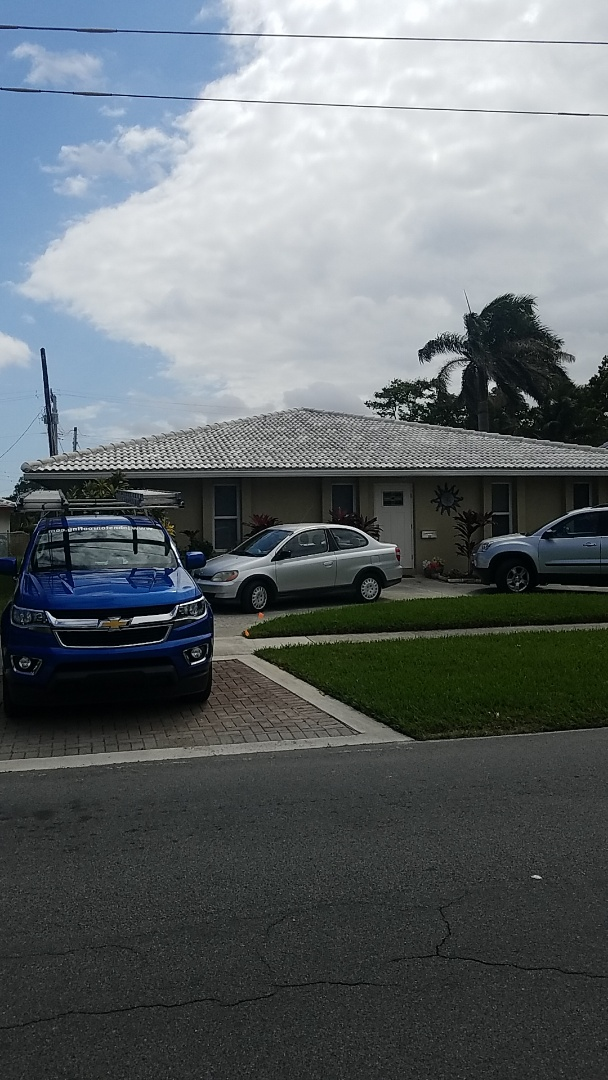 Dania Beach, FL - Tile roof repair estimate by Earl Johnston Roofing Company
