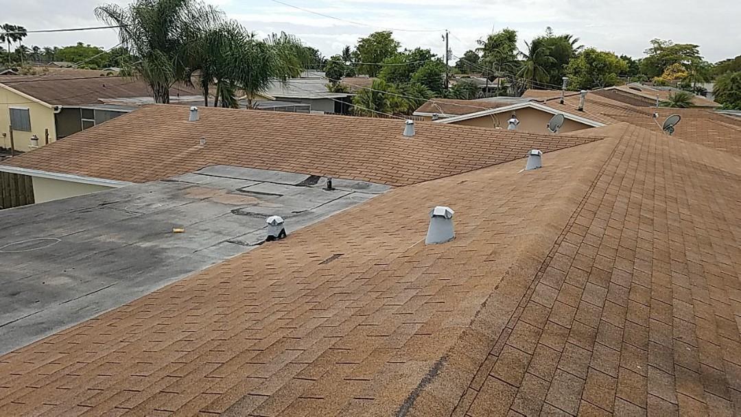 Sunrise, FL - Gaf shingle and flat re-roof estimate in Sunrise ,FL