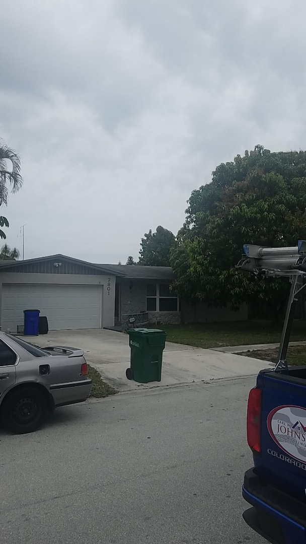 Margate, FL - GAF timberline HD shingles reroof estimate by Aj from Earl Johnston Roofing Company