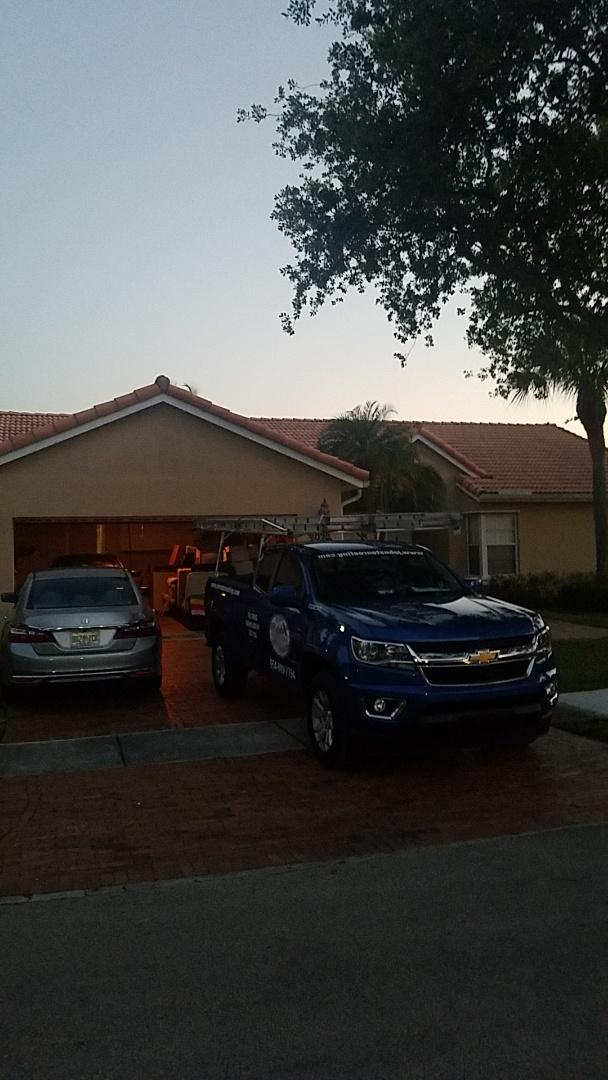 Hialeah, FL - Eagle Malibu tile reroof estimate by Aj from Earl Johnston Roofing Company