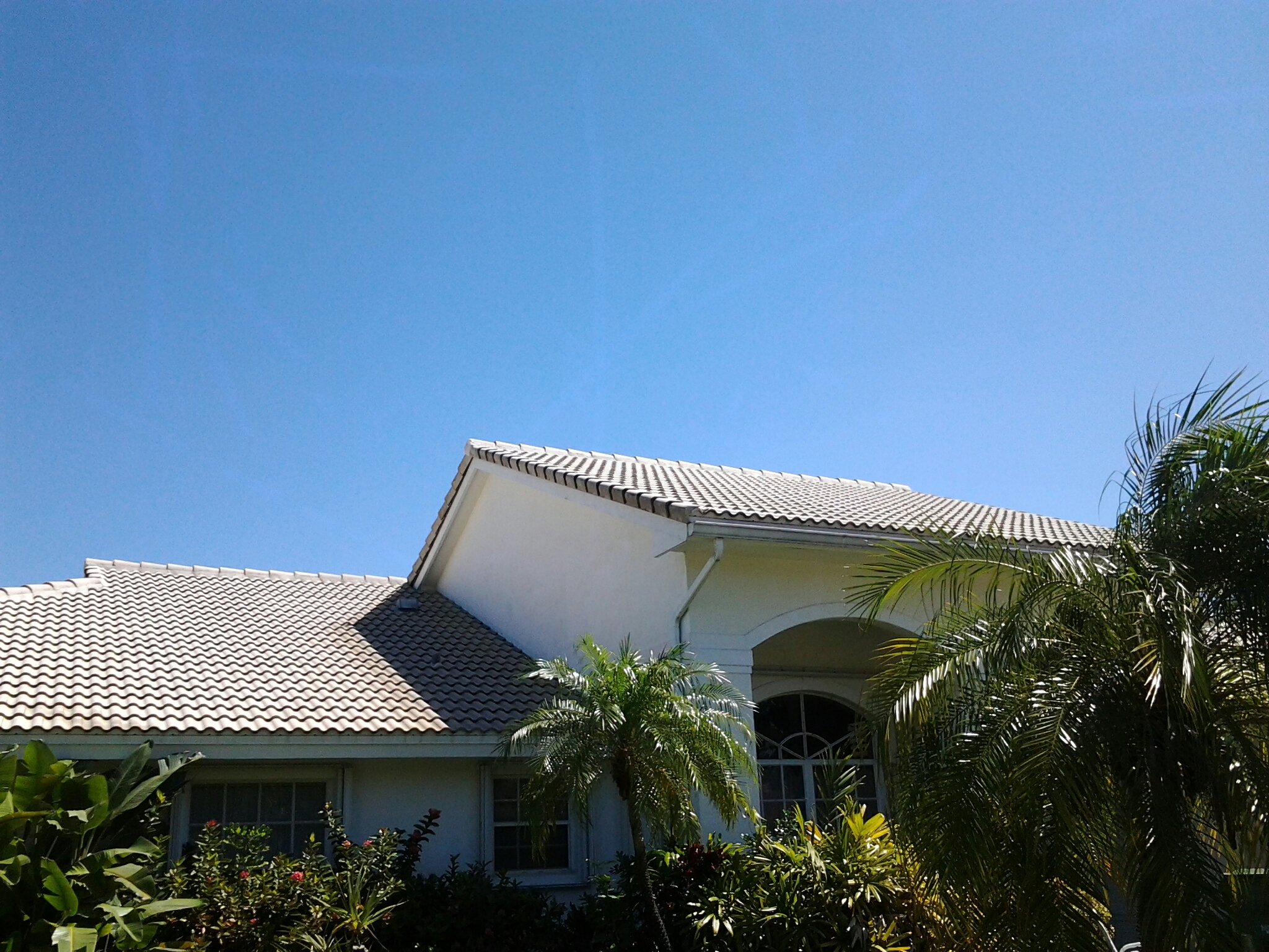 Miami Shores, FL - Pressure clean and roofacide roof