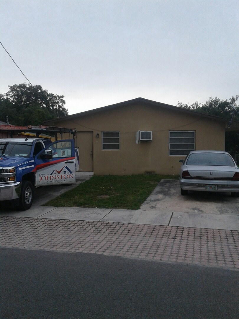 Dania Beach, FL - Roof shingle repair and fascia wood and soffit this repair is being done by Earl W Johnston roofing company Tony and Regis are you repair technicians