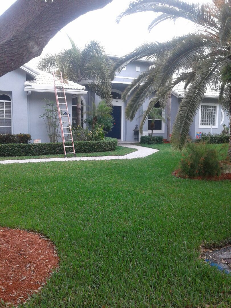 Plantation, FL - Tile roof repair and the city of Plantation Florida this repair is being done by Earl W Johnston roofing company Tony and Regis are you a repair technician