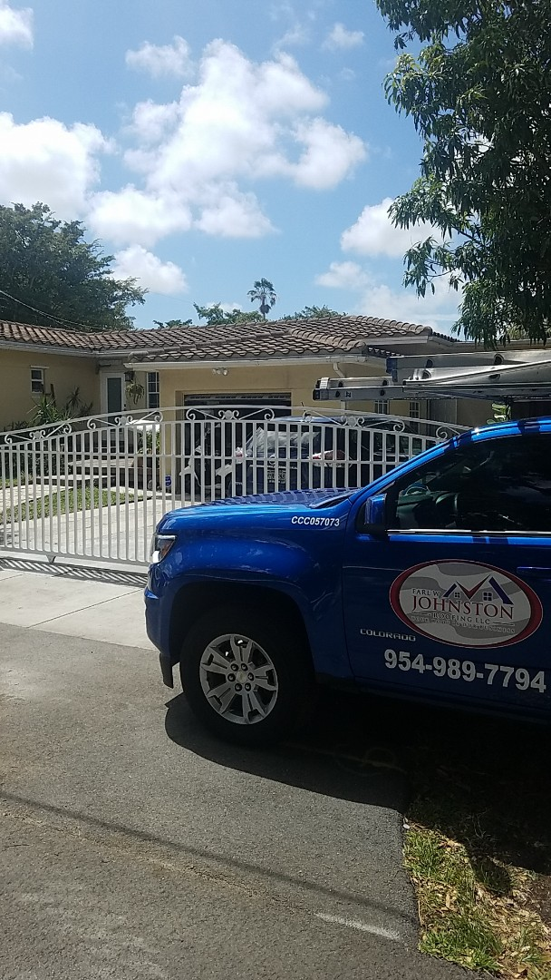 North Miami, FL - Tile roof repair estimate by Earl Johnston Roofing Company