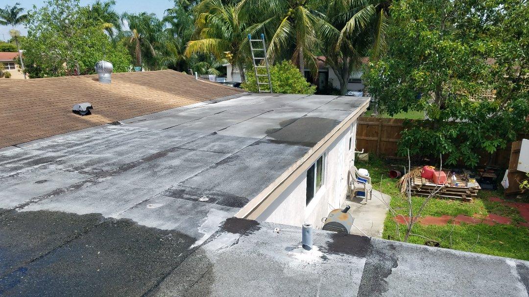 Miramar, FL - Gaf Timberline hd shingle and flat re-roof estimate in Miramar, FL