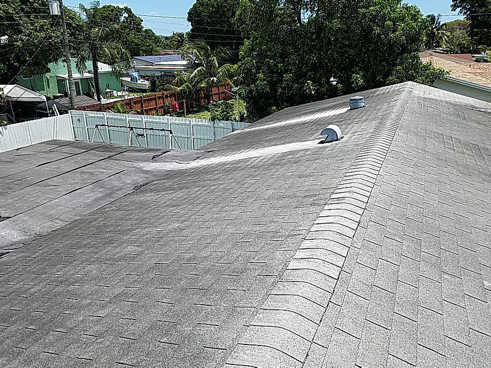 Hollywood, FL - Gaf Timberline hd shingle and flat re-roof in Hollywood,FL