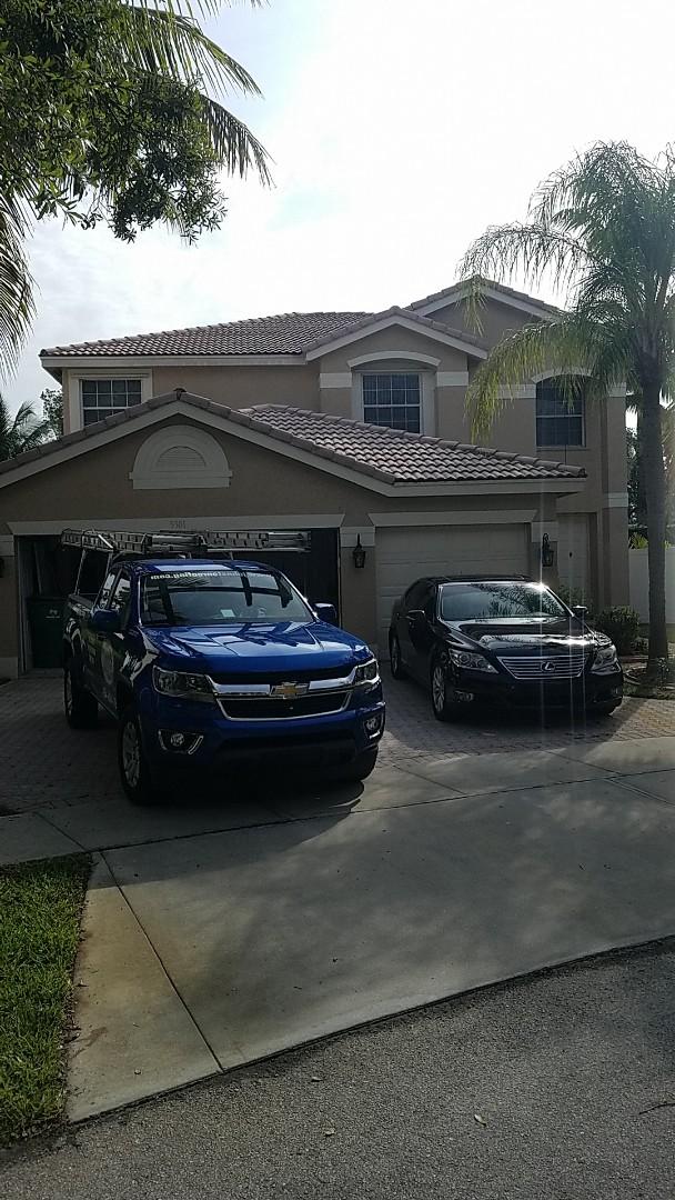 Miramar, FL - Tile roof leak repair estimate by Aj from Earl Johnston Roofing Company