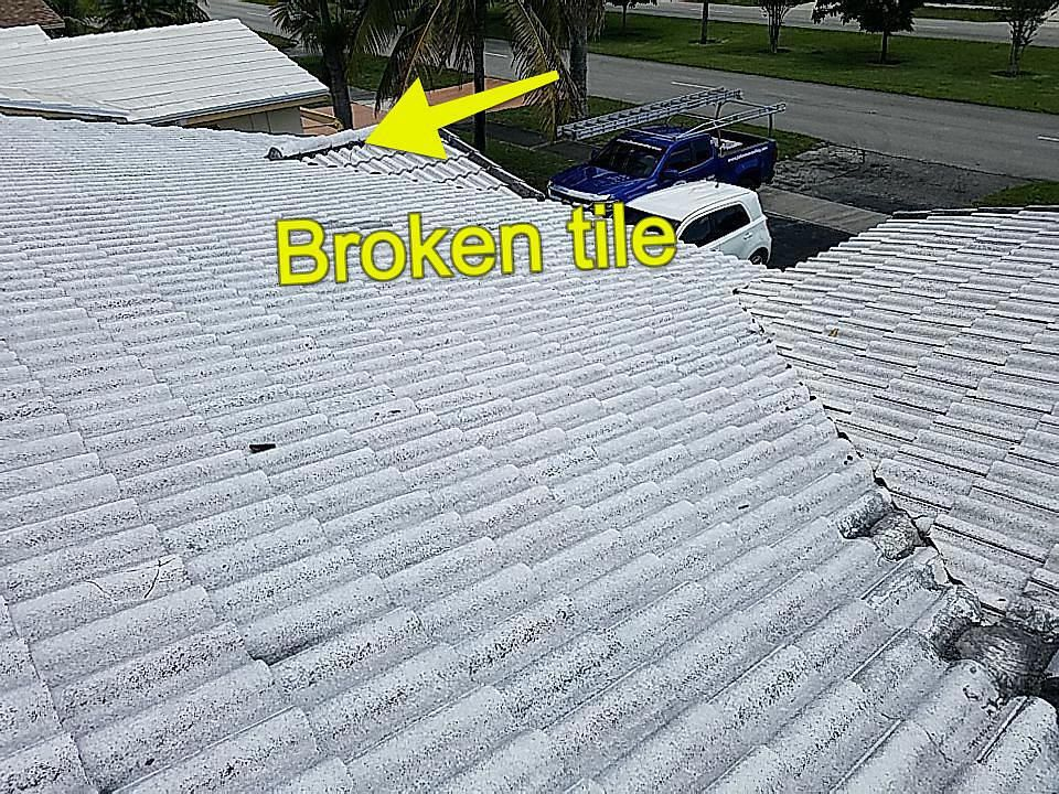 Hollywood, FL - Tile roof repair and maintenance estimate in Hollywood,FL