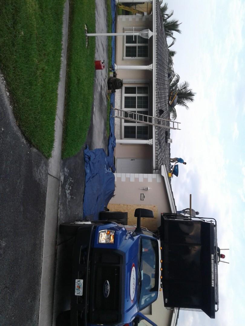 Pembroke Pines, FL - Starting a 36sq tile reroof in Pembroke pines by Earl w Johnston roofing