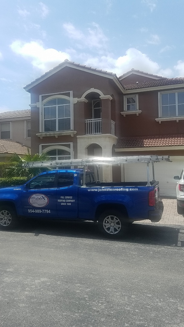 Dania Beach, FL - Tile roof leak repair estimate by Aj from Earl Johnston Roofing Company