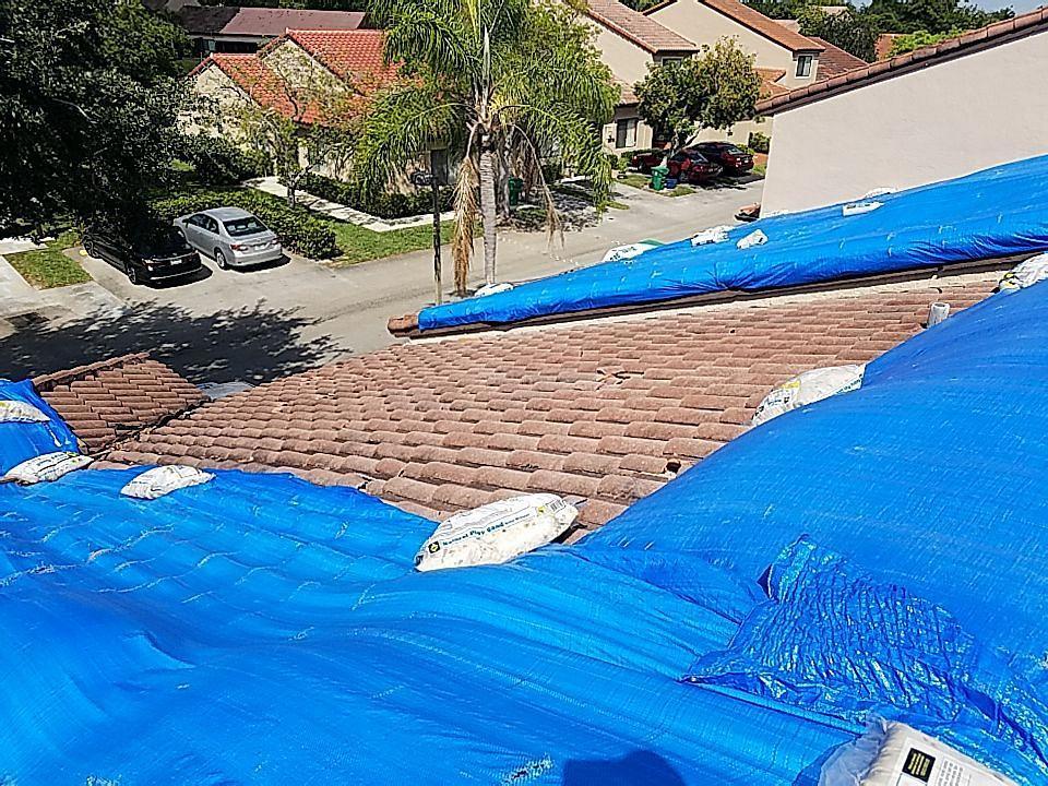 Lauderhill, FL - Eagle Capistrano tile roof with tag and stick tile underlayment estimate in Lauderhill Florida