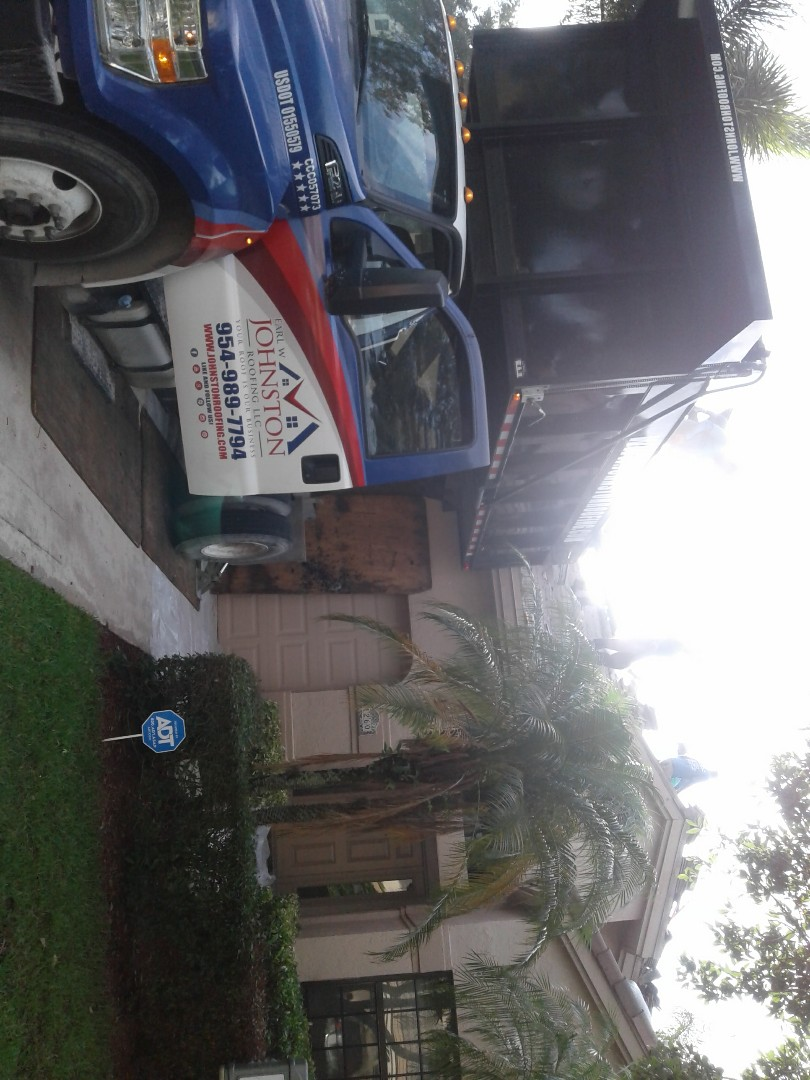 Plantation, FL - Starting a 33sq.tile reroof in plantation, by Earl w Johnston roofing