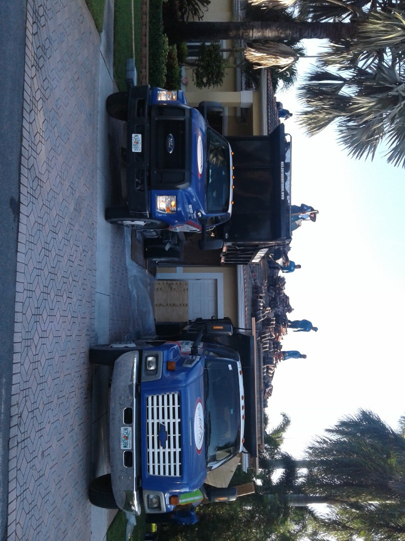 Plantation, FL - Starting a 55sq tile reroof in plantation, by Earl w Johnston roofing.
