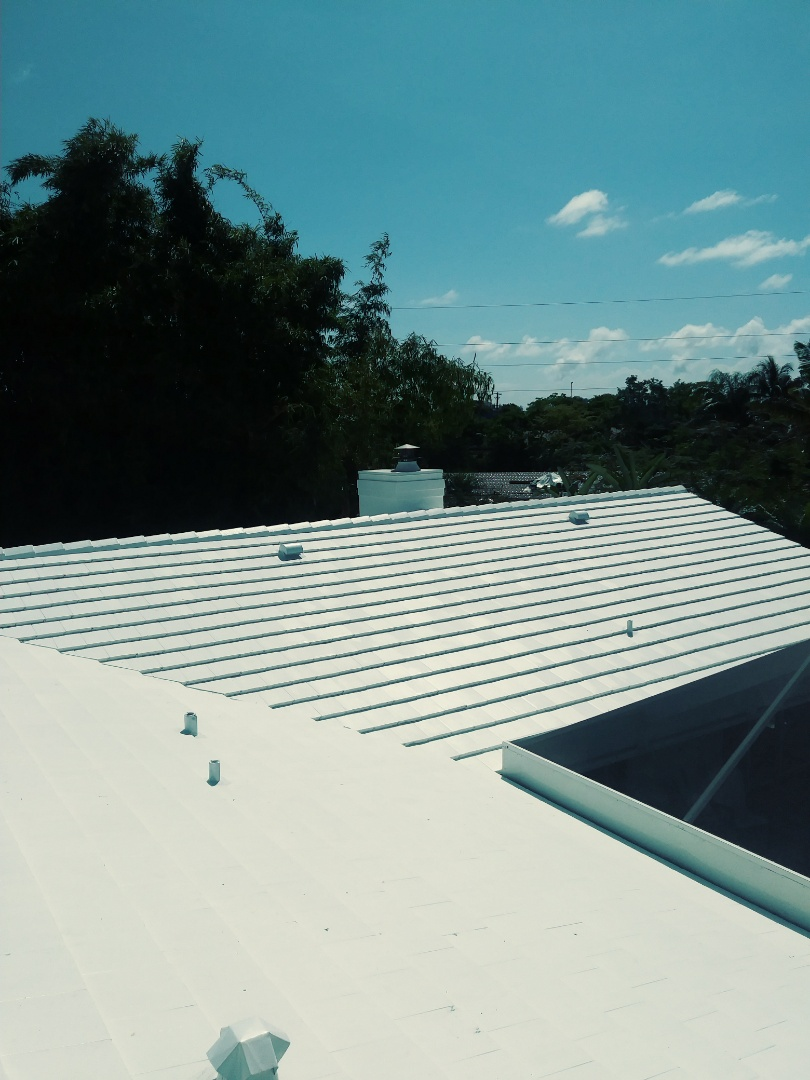 Fort Lauderdale, FL - Finished eagle low profile flat concrete roof tile by earl w Johnston roofing llc