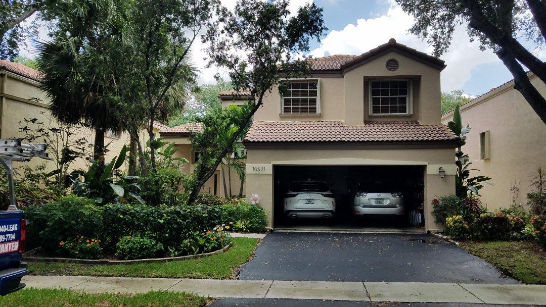 Plantation, FL - Tile roof repair estimate in Plantation  ,FL