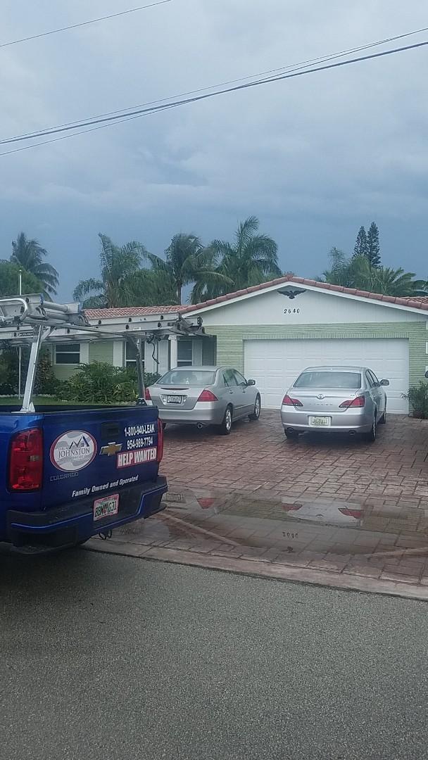 Pompano Beach, FL - Tile roof leak repair estimate by Earl Johnston Roofing Company