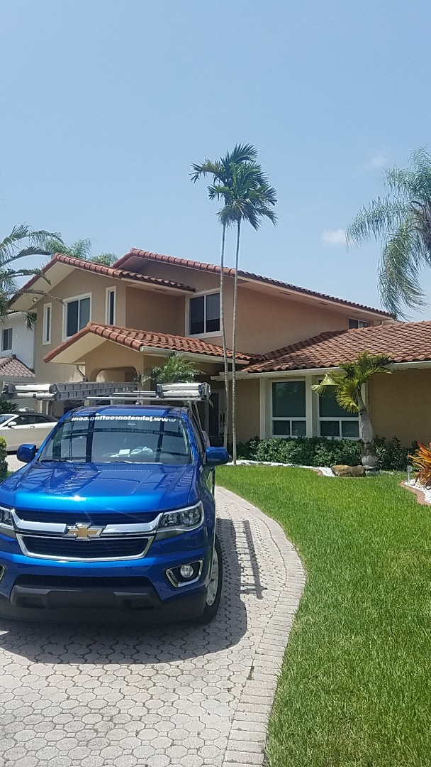 North Miami Beach, FL - Tile reroof estimate by Aj from Earl Johnston Roofing Company