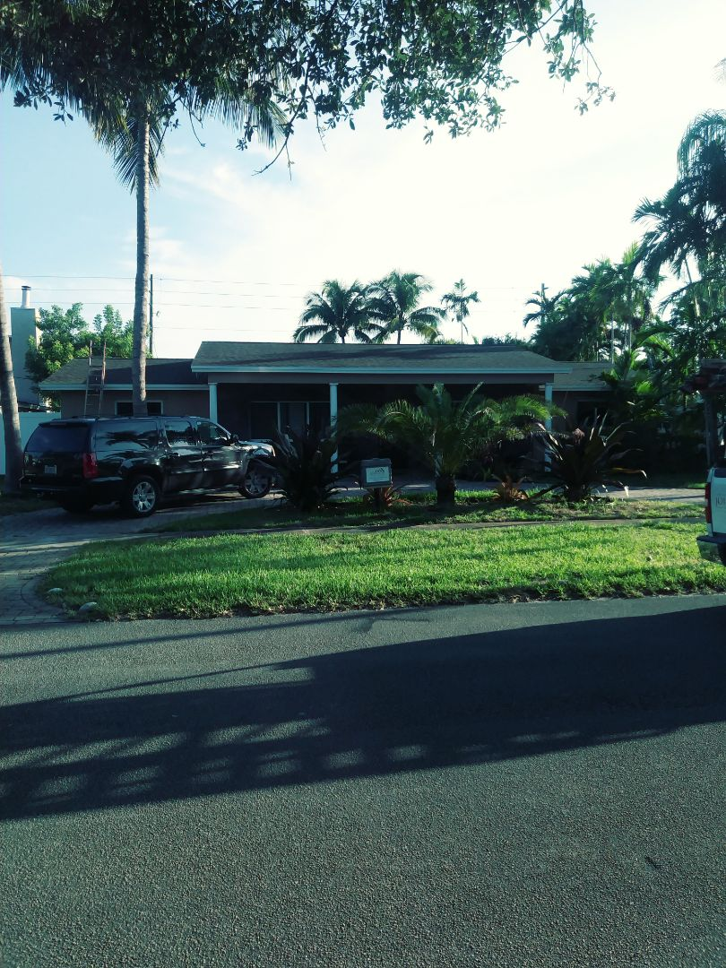 Hollywood, FL - Finished gaf timberline shingle and flat roofs by earl w Johnston roofing llc