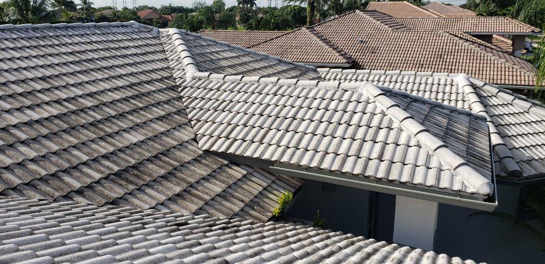 Hollywood, FL - Tile roof leak repair estimate in Cooper City Florida