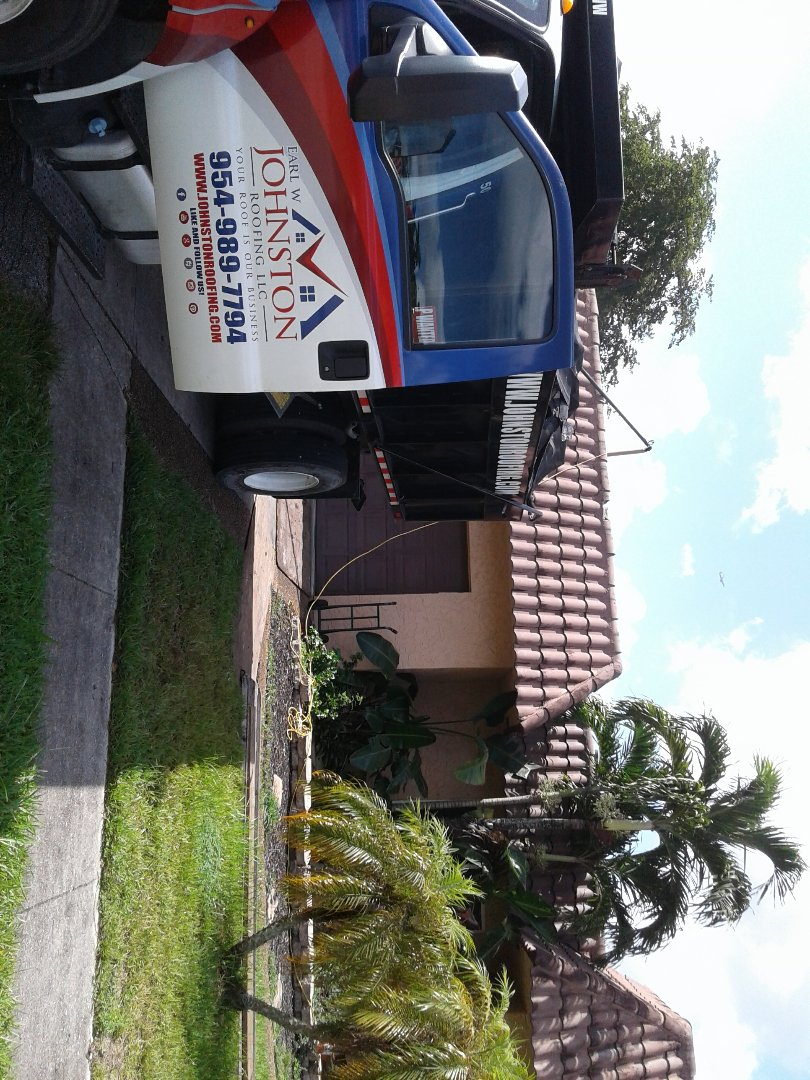 Plantation, FL - Starting a 41sq flat deck reroof in plantation, by Earl w Johnston roofing