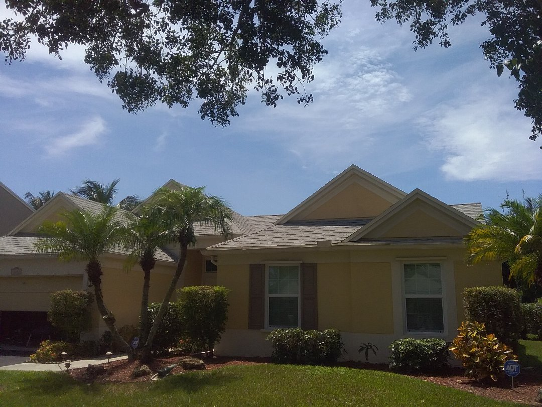 Cooper City, FL - A finished roof repair in Cooper City by Duane & Oliver from Earl W. Johnston Roofing