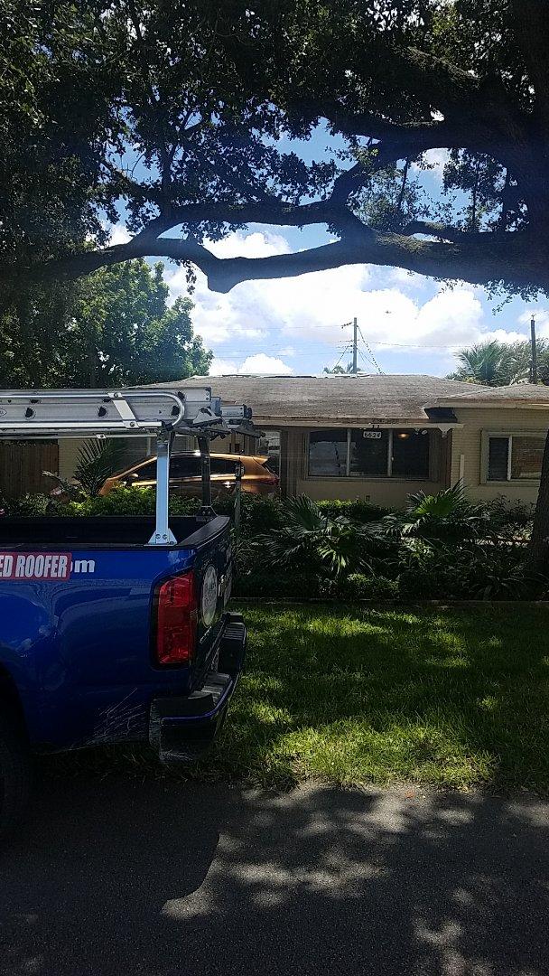 Pembroke Pines, FL - Gaf timberline HD shingles golden pledge warranty estimate by Aj from Earl Johnston Roofing Company