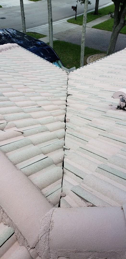 Pembroke Pines, FL - Tile roof leak repair estimate in Pembroke Pines Florida by Mike Wilde of Earl Johnston Roofing