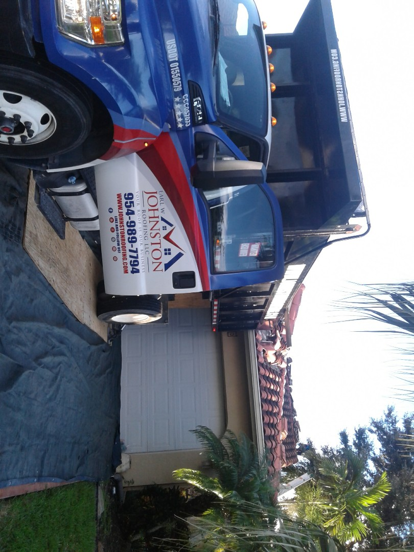 Davie, FL - Starting a 40sq tile reroof in Davie, by Earl w Johnston roofing