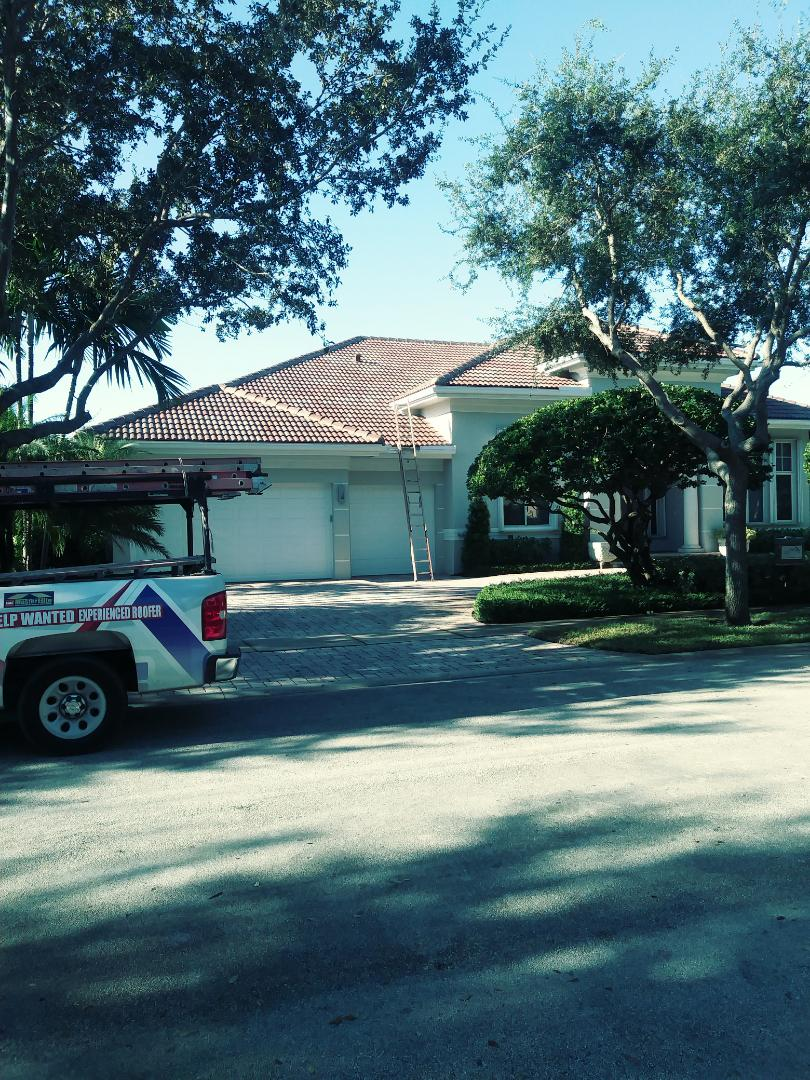 Fort Lauderdale, FL - Finished eagle Malibu concrete roof tile Floridian blend ready for the final inspection
