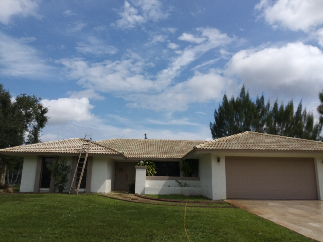 Plantation, FL - Spot clean and Roofacide roof service guys Darron and Gary