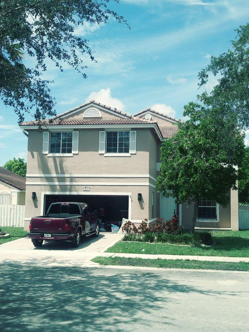 Pembroke Pines, FL - Finished eagle Malibu Floridian blend concrete roof tile by earl w Johnston roofing llc