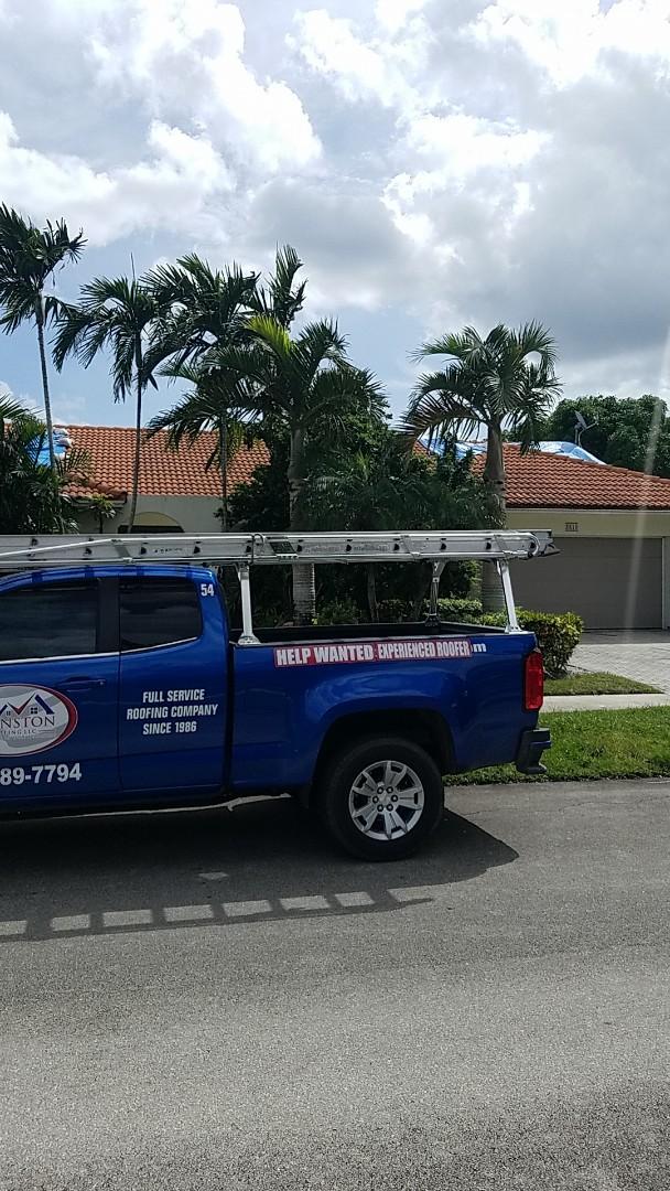 Hollywood, FL - Eagle Malibu tiles reproof estimate by Earl Johnston Roofing Company