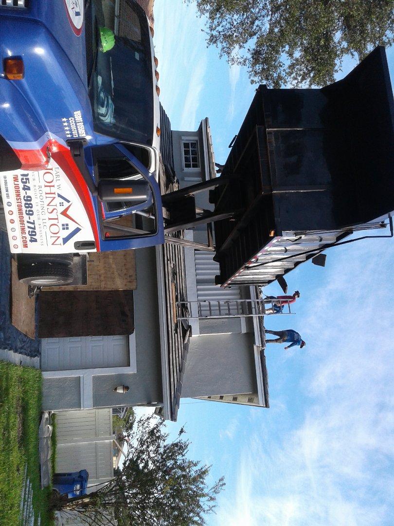 Pembroke Pines, FL - Starting a 23sq tile reroof in Pembroke, by Earl w Johnston roofing
