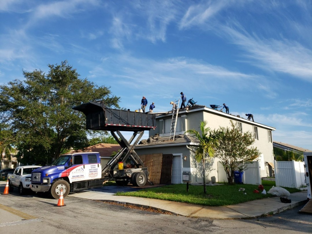 Pembroke Pines, FL - Tag & Stick tile reroof is starting today in Pembroke Pines Florida by Earl Johnston Roofing