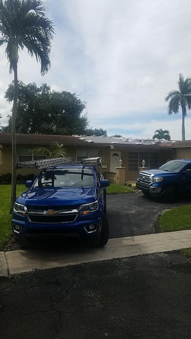 Fort Lauderdale, FL - Gaf timberline HD shingles golden pledge warranty estimate by Aj from Earl Johnston Roofing Company