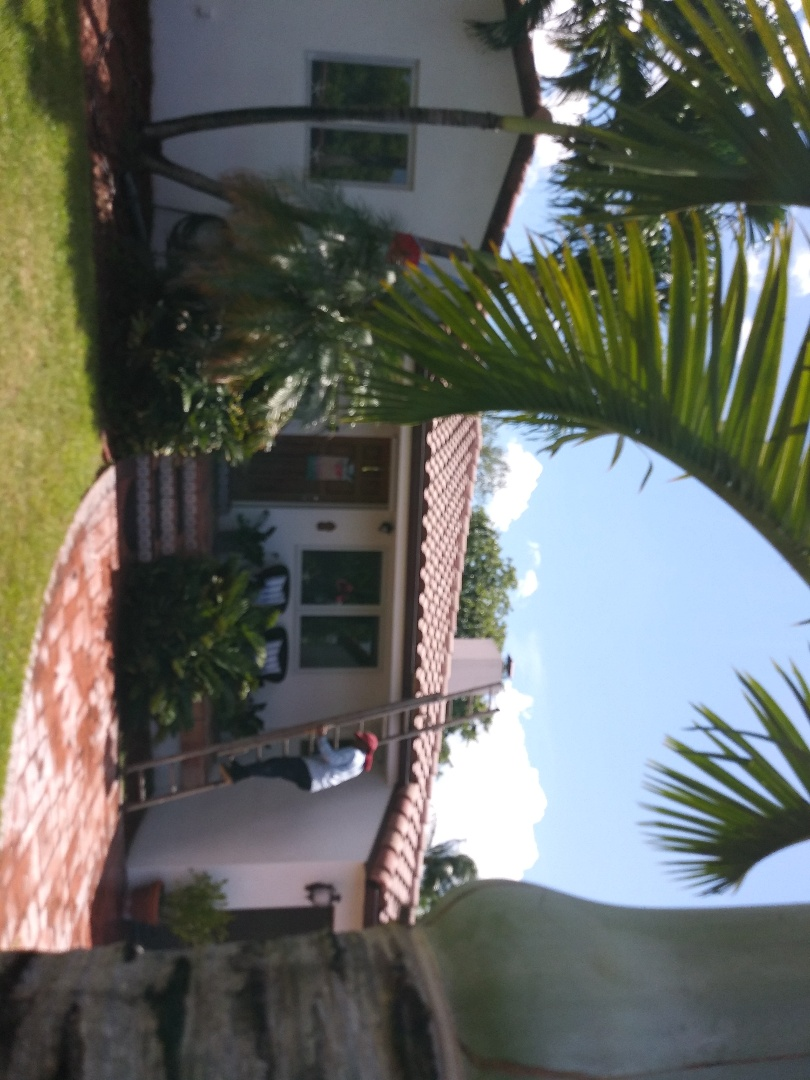 Miami Springs, FL - Pressure clean and Roofacide roof service guys Darron and Gary