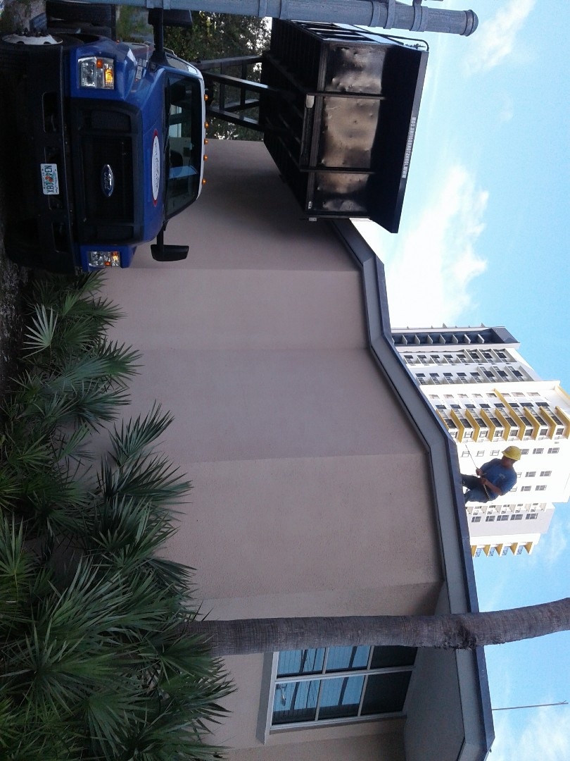 Fort Lauderdale, FL - Starting a 31sq flat deck reroof in fort lauderdale ,by Earl w Johnston roofing