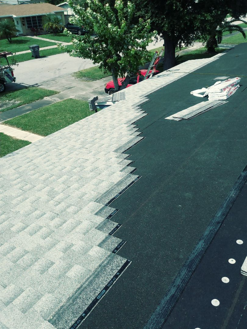 Hollywood, FL - Gaf timberline shingles with weather watch being installed in Hollywood by earl w Johnston roofing llc