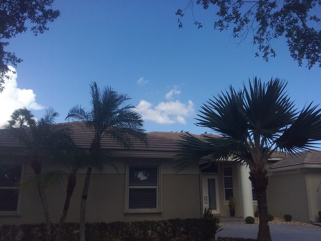Weston, FL - A finished roof repair in Weston by Duane, Oliver and Ron from Earl W. Johnston Roofing