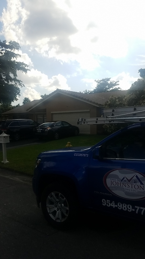 Coral Springs, FL - Eagle Malibu tiles reproof estimate by Earl Johnston Roofing Company