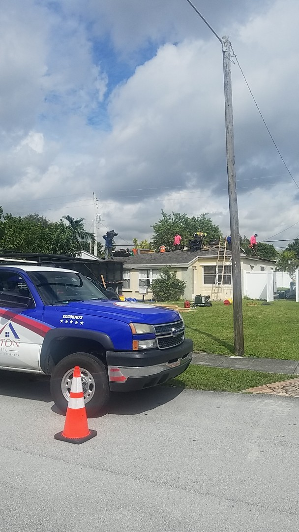 North Miami Beach, FL - Gaf timberline HD shingles golden pledge warranty reroof tear off by Aj from Earl Johnston Roofing Company