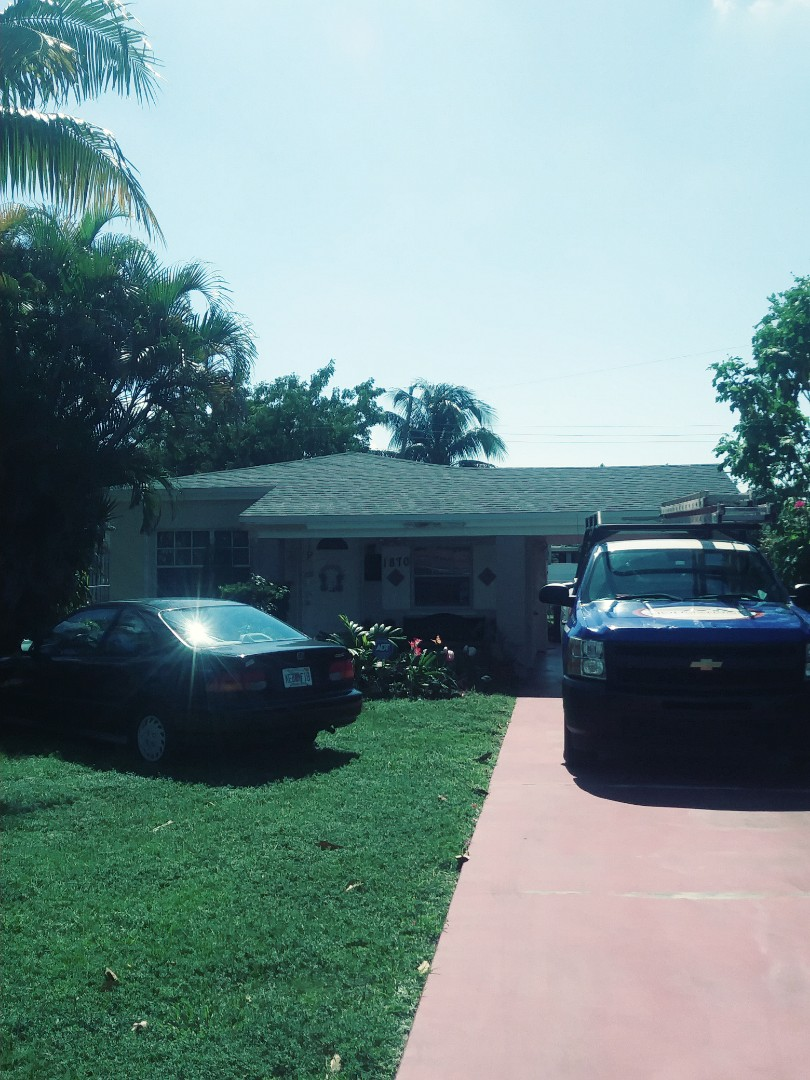 North Miami Beach, FL - Finished Gaf timberline shingle roof by earl w Johnston roofing llc