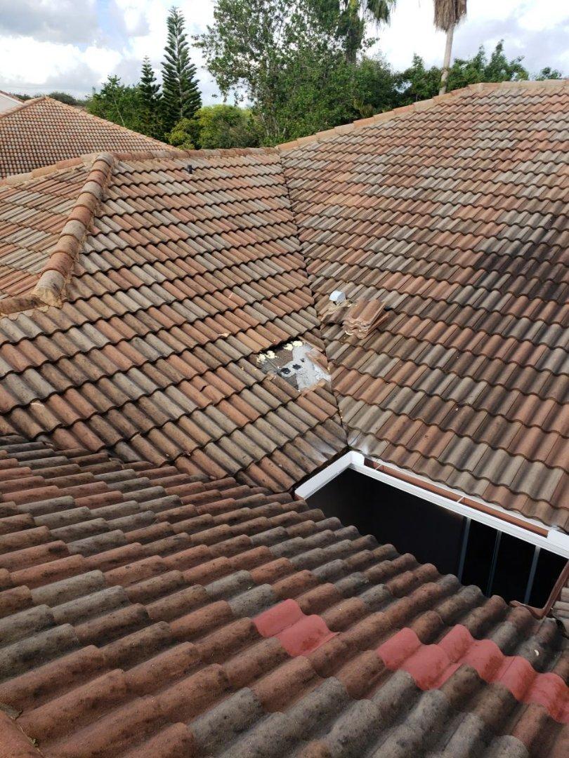 Sunrise, FL - Tile roof leak repair estimate in Sunrise, FL by Mike Wilde of Earl Johnston Roofing
