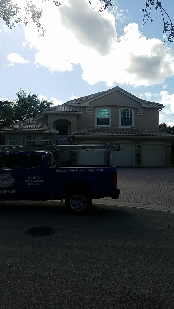 Coral Springs, FL - Tile roof replacement estimate by Aj from Earl Johnston Roofing Company