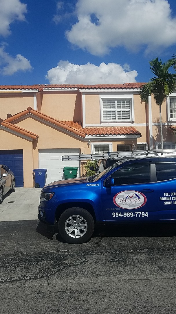 Miramar, FL - Tile roof repair estimate by Aj from Earl Johnston Roofing Company