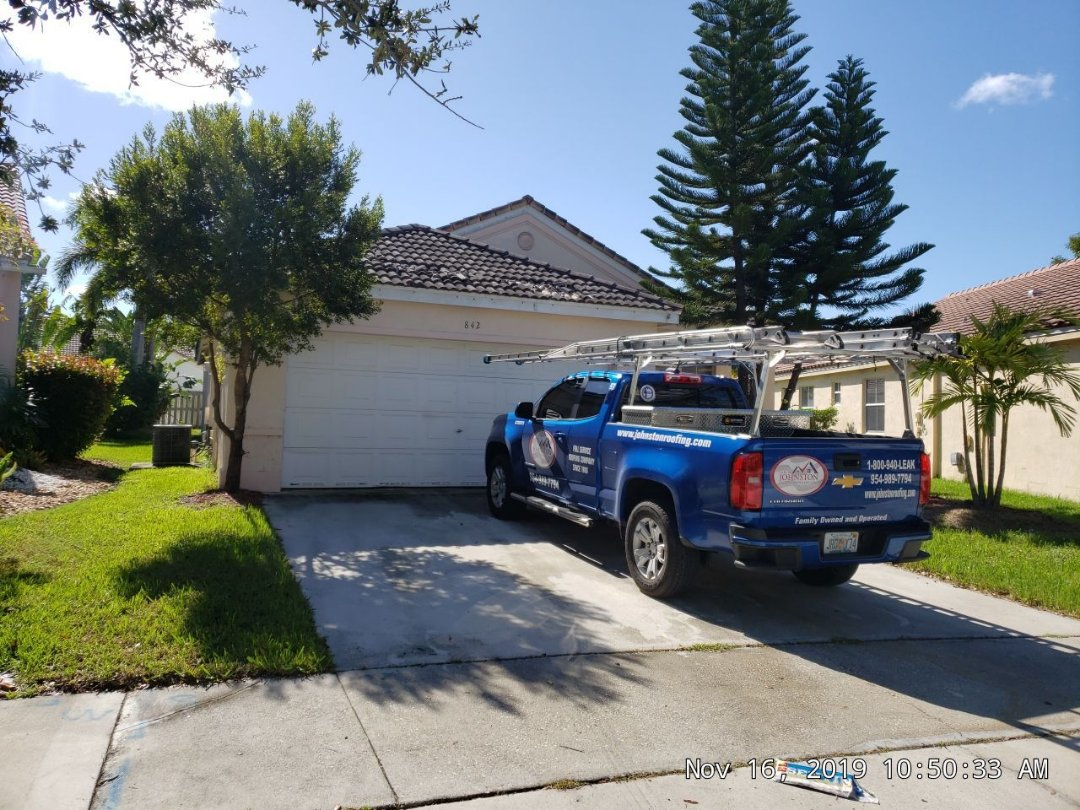 Weston, FL - Tile re-roof estimate in Weston,FL by Mike Wilde of Earl Johnston Roofing