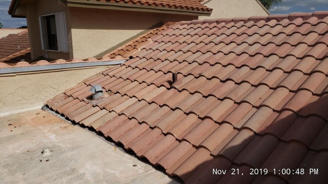 Tile roof leak repair estimate in Weston,FL by Mike Wilde of Earl Johnston Roofing