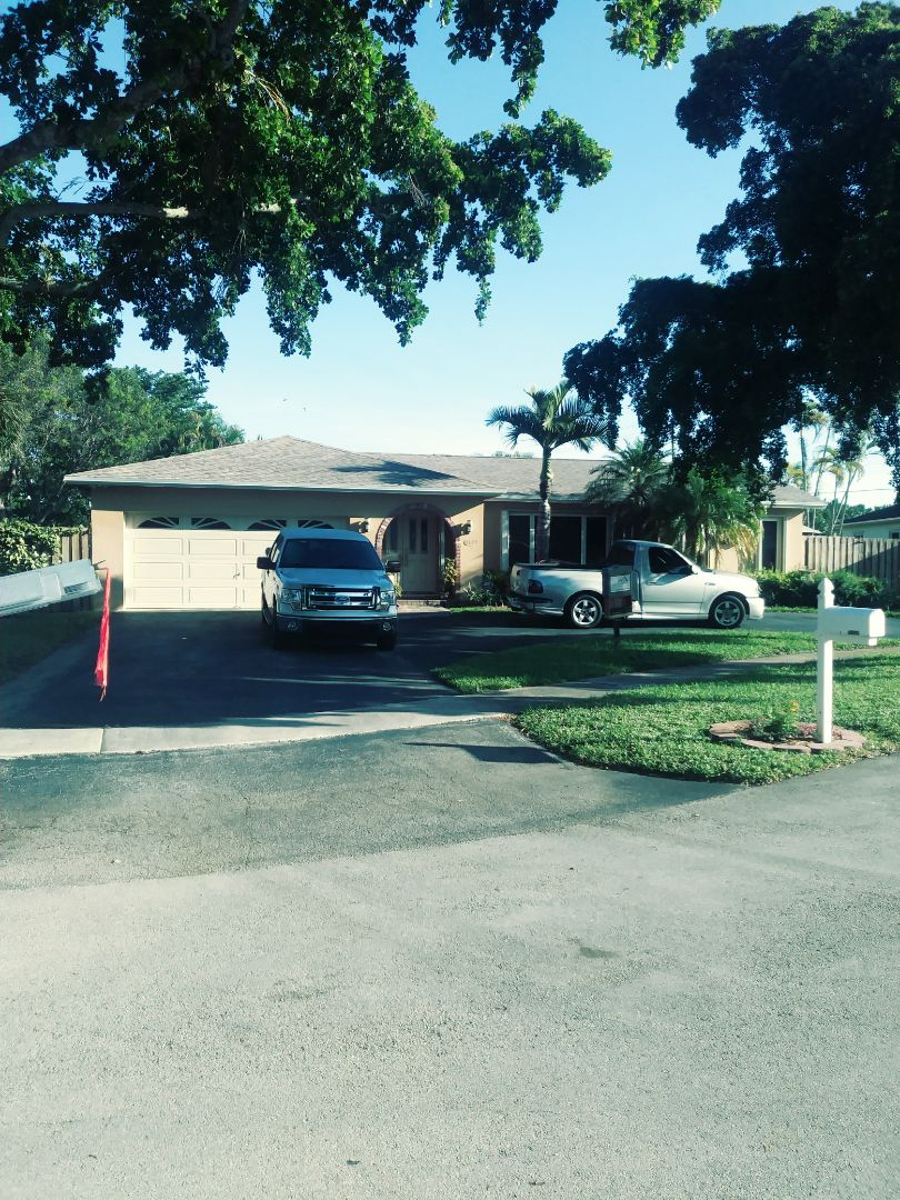 Cooper City, FL - Finished Gaf timberline shingle and flat roof by earl w Johnston roofing llc