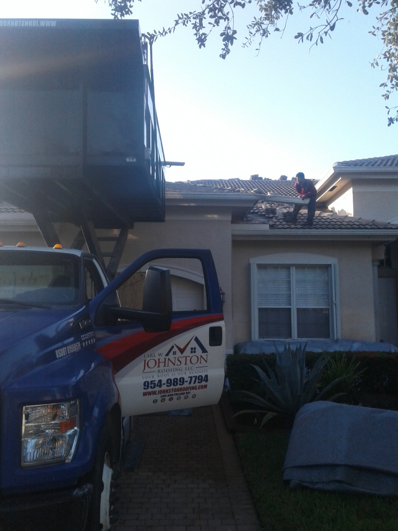 Miramar, FL - 63sq tile reroof in Miramar, by Earl w Johnston roofing
