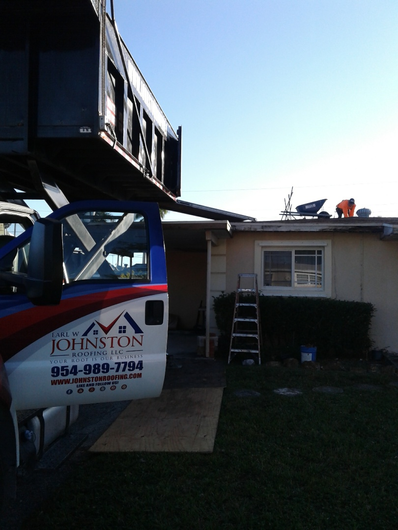 Miami Gardens, FL - Starting a 16sq shingle reroof in Miami Gardens, by Earl w Johnston roofing.